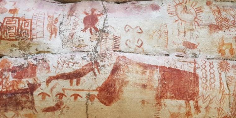 Artes rupestres são descobertas na na Amazônia colombiana