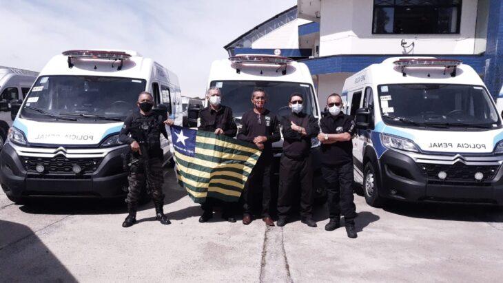 Piauí recebe ônibus e viaturas do Departamento Penitenciário Nacional