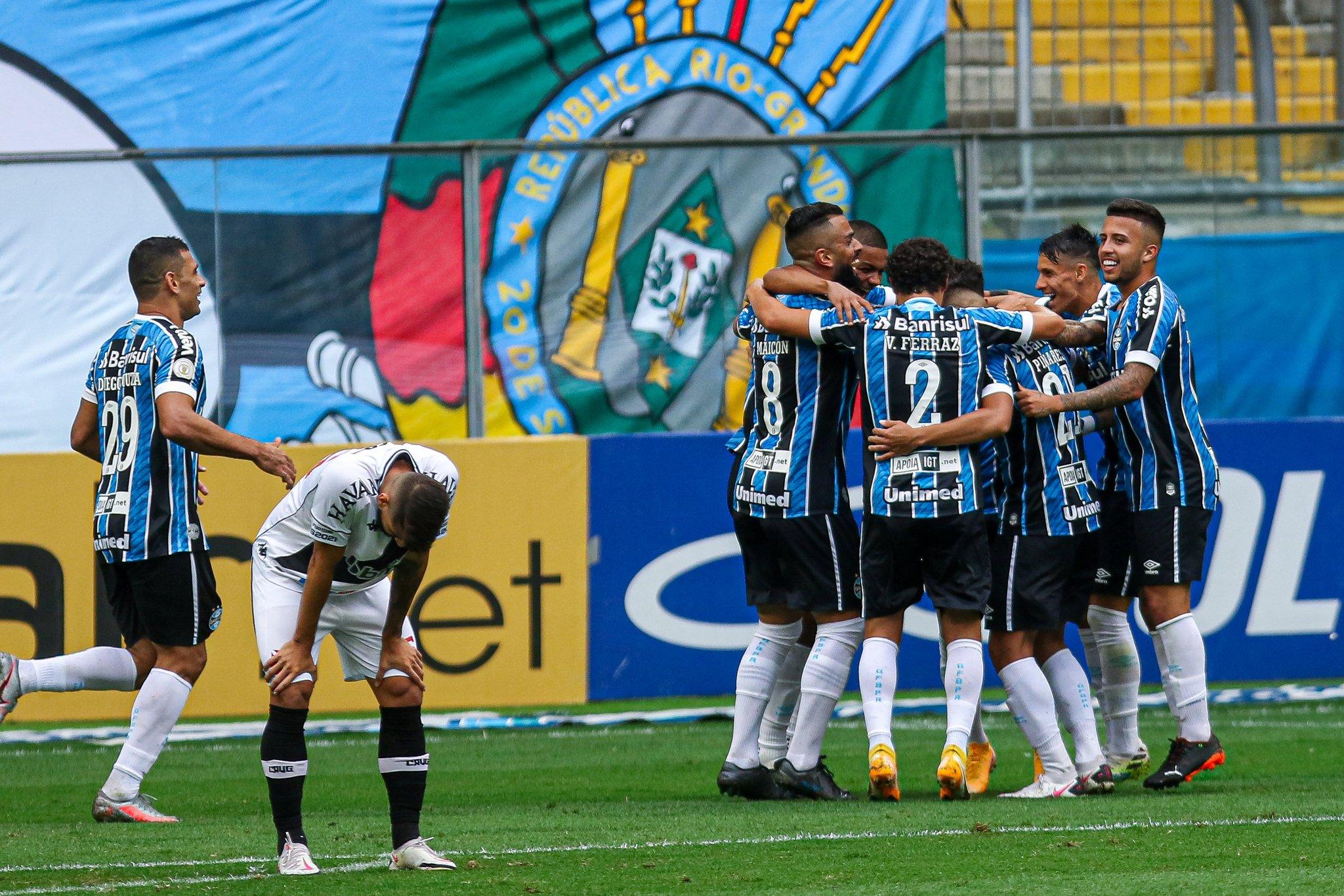 Grêmio vence na Arena — Foto: Reprodução / Twitter