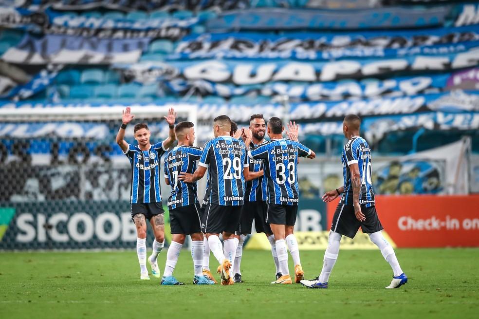 Grêmio vence na Arena — Foto: Lucas Uebel/Grêmio