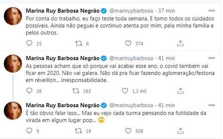 """""""Pistola"""", Marina Ruy detona festas: """"Covid não vai ficar em 2020"""" - Imagem 1"""