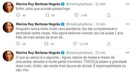 """""""Pistola"""", Marina Ruy detona festas: """"Covid não vai ficar em 2020"""" - Imagem 2"""