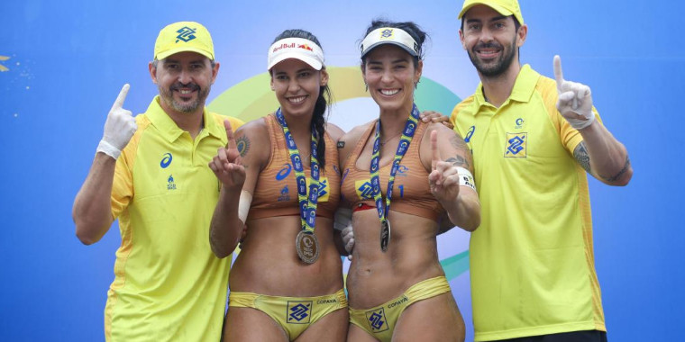 Ágatha e Duda lideram o ranking nacional de vôlei de praia