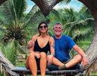 "Noiva de José de Abreu cita ""olhar julgador"" por diferença de idade"