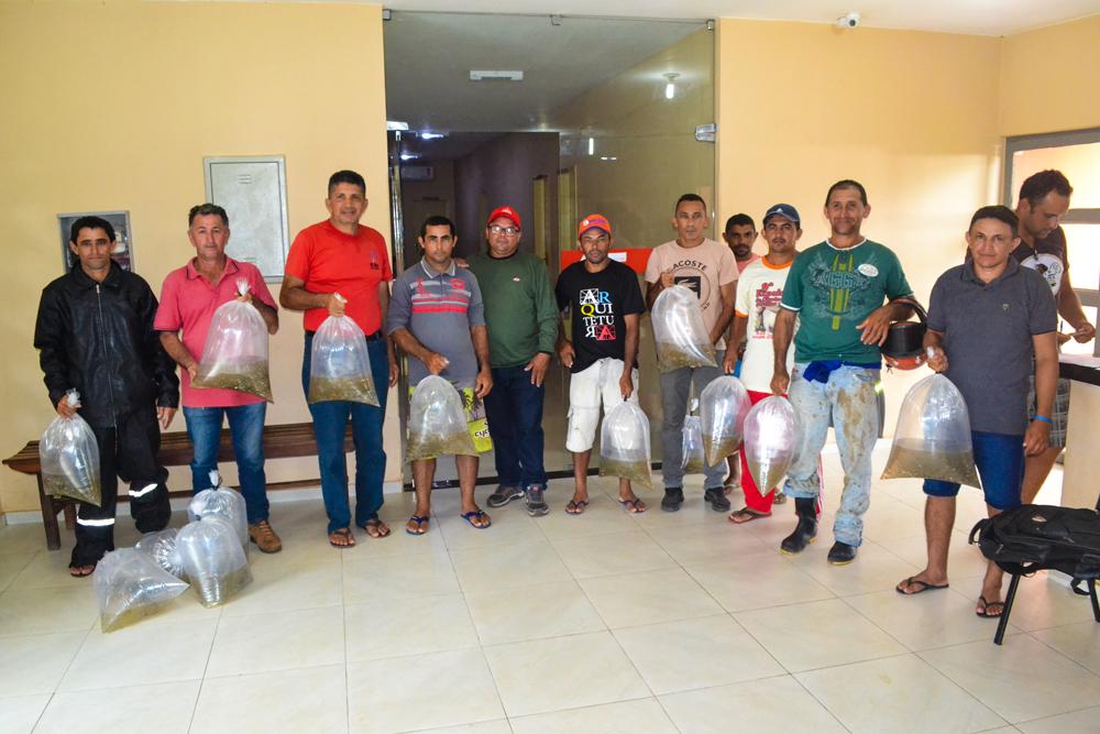 Prefeitura de Joaquim Pires entrega mais de 15 mil alevinos para piscicultores. - Imagem 1