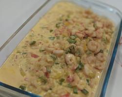 Filé de peixe ao molho de camarão feito pelo chef Mateus Cabral!