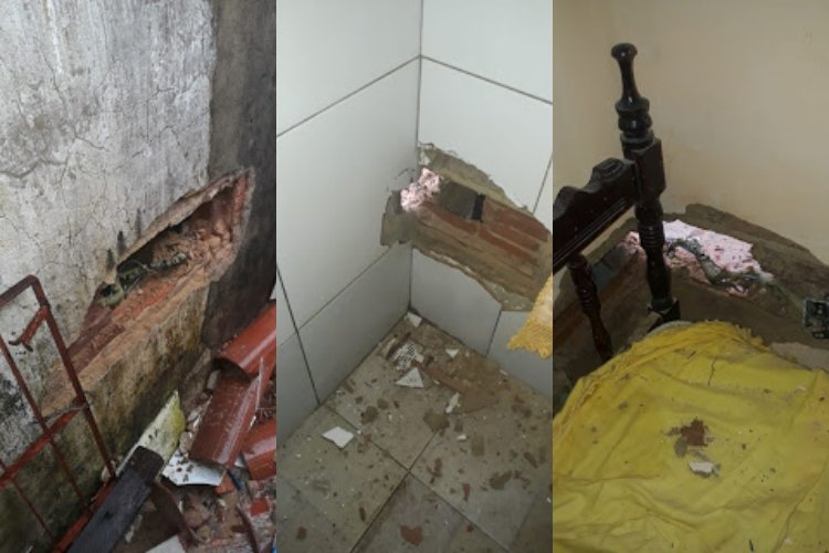 Raio atinge residência e provoca prejuízos em Parnaíba; fotos - Imagem 1