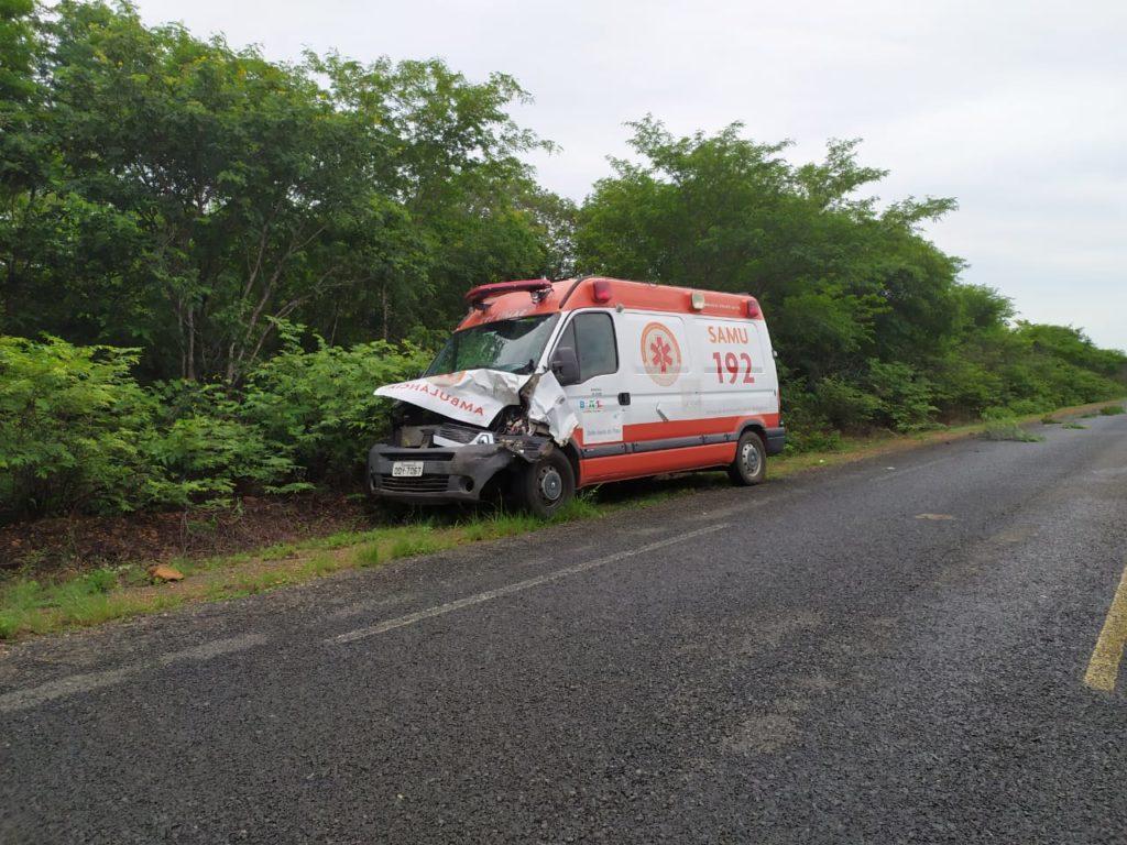 Ambulância do SAMU fica danificada ao colidir contra animal na PI-143  - Imagem 3