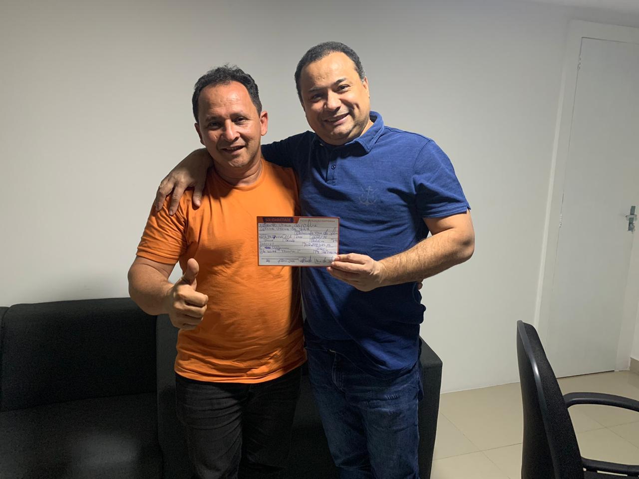 Roberto Viana se filia ao Solidariedade e disputará vaga na CMT - Imagem 1