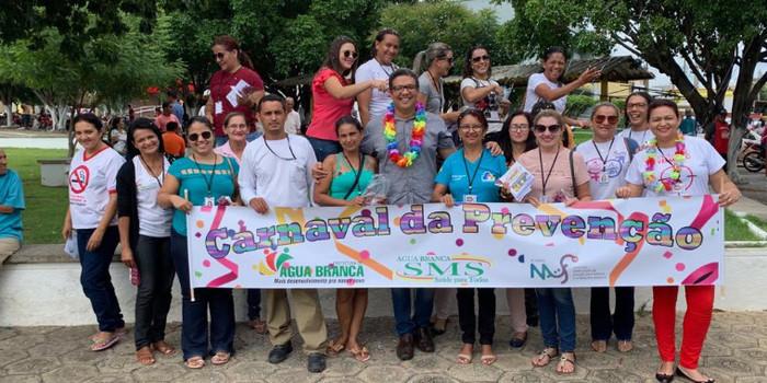 Prefeitura de Água Branca realiza ação de carnaval visando à prevenção de ISTs