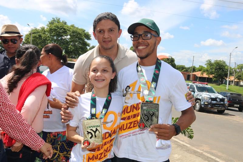 Campeã mundial de capoeira é recepcionada com carreata em Água Branca - Imagem 5