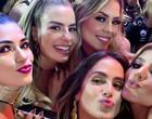 Solteiras, ex-BBBs curtem juntas o camarote da Sapucaí no Rio