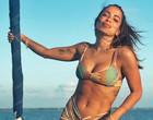 Anitta exibe corpão em fotos de biquíni durante férias nas Maldivas
