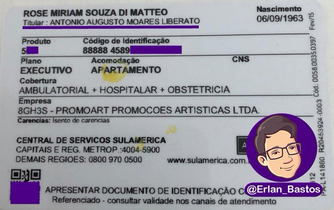 Crédito:Reprodução/Twitter @erlan_bastos