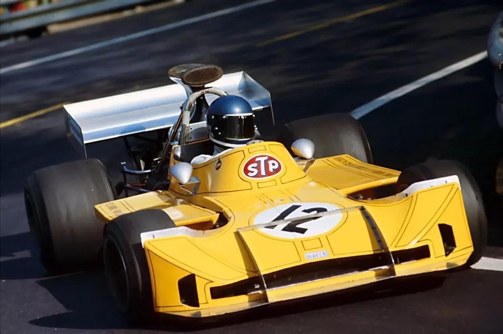 Mike Beuttler pilota March durante o GP da Espanha de 1973 — Foto: Reprodução/rede social