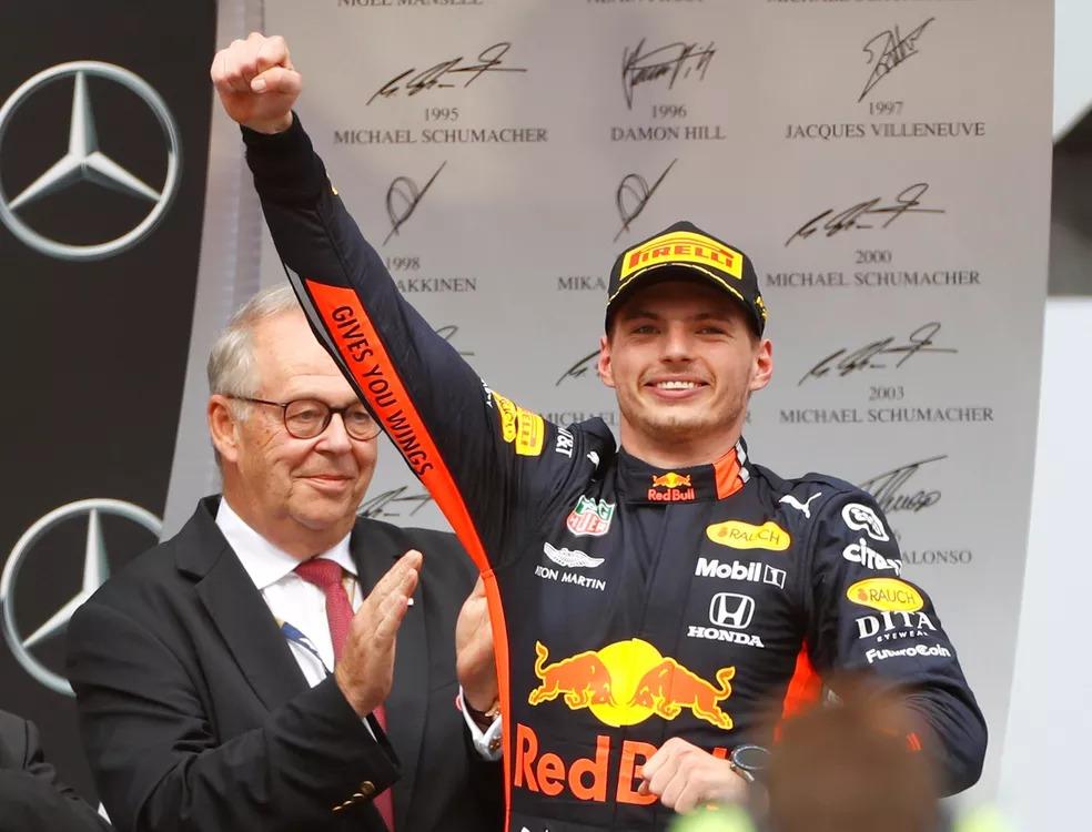 Max Verstappen venceu GP da Alemanha de 2019 — Foto: REUTERS/Kai Pfaffenbach