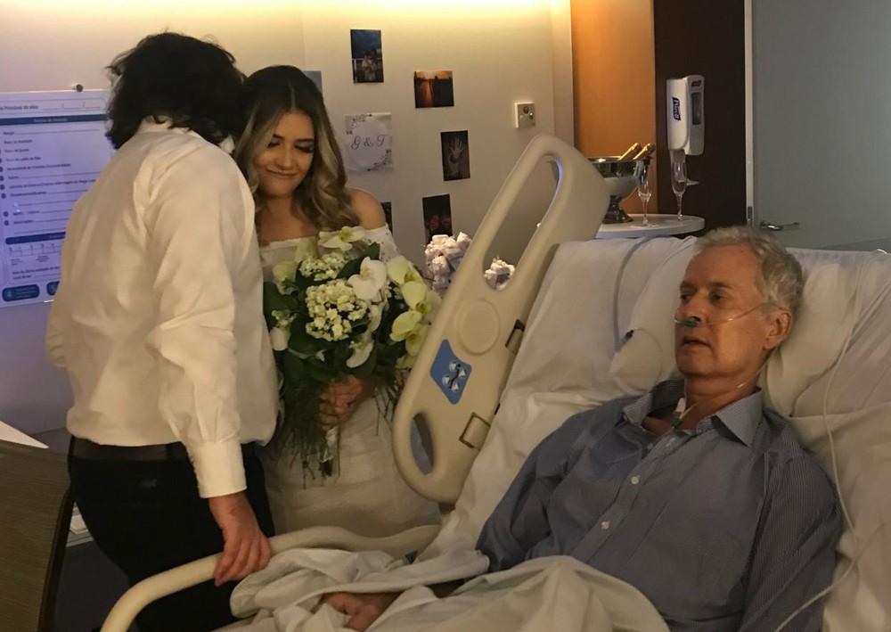 Pai com câncer vê filha se casar em hospital no último dia de vida - Imagem 2