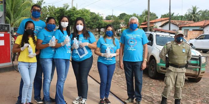 Secretaria Municipal de Saúde distribuiu máscaras e álcool em gel