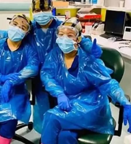 Covid: Enfermeiras que usaram saco de lixo de proteção são infectadas  - Imagem 2