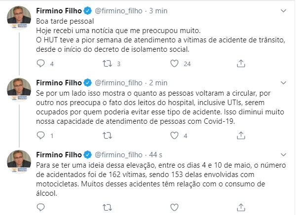 HUT tem aumento no número de vítimas de acidente; Firmino se preocupa - Imagem 2