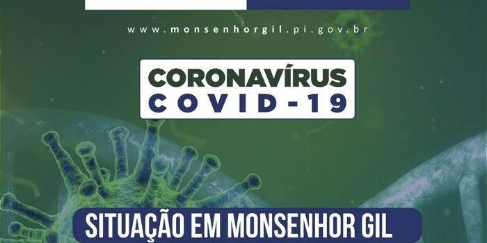 Monsenhor Gil continua sem casos confirmados de Covid-19