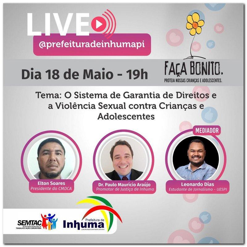 Live 18 de Maio, as 19:00h  - Imagem 1