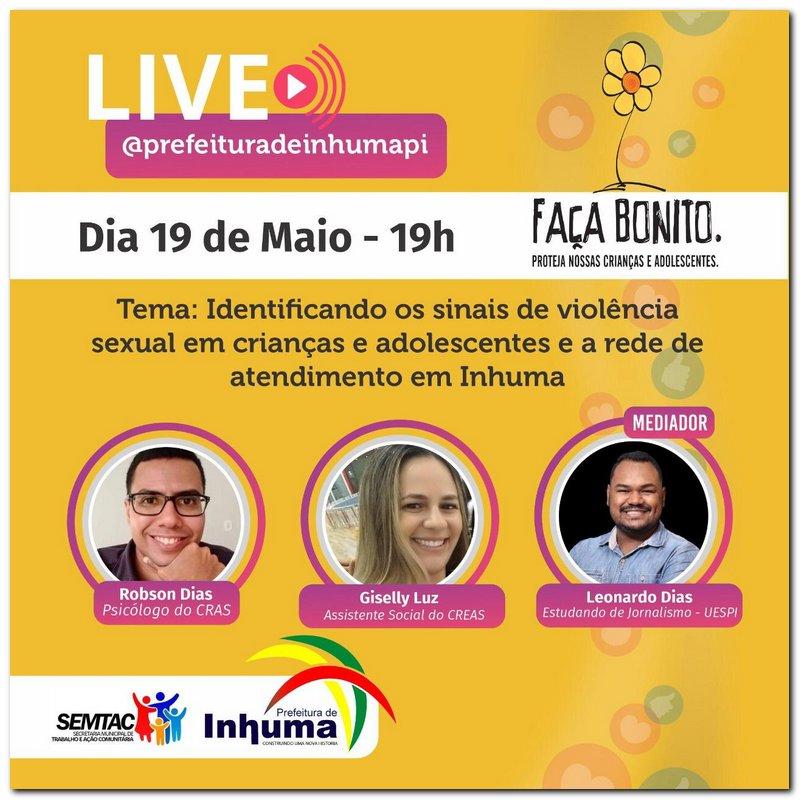 Live 18 de Maio, as 19:00h  - Imagem 2