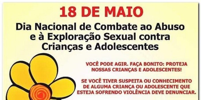 Live 18 de Maio, as 19:00h