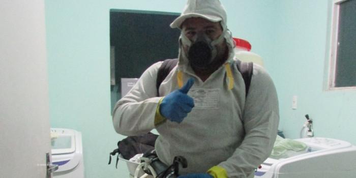 Prefeitura realiza pulverização na Unidade Mista