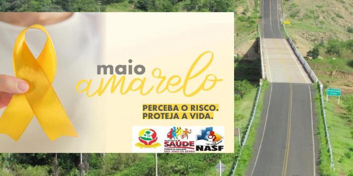 São João da Serra retrata Campanha maio amarelo 2020