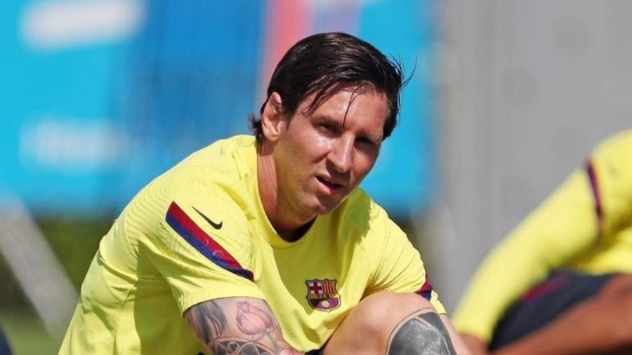 Messe retorna oas treinos do futebol espanhol. Imagem: Reprodução/Instagram