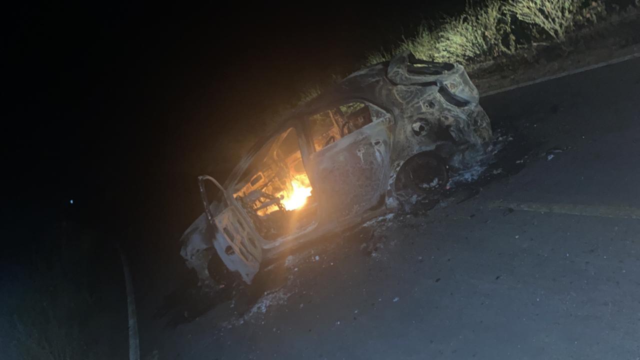 Grupo armado explode terminal do Bradesco e queima veículo na PI-455 - Imagem 6