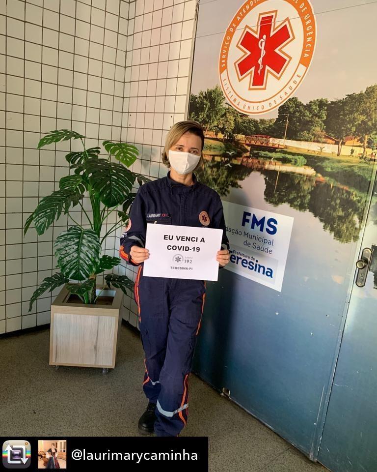 Laurimary, enfermeira do SAMU, conseguiu se recuperar da doença