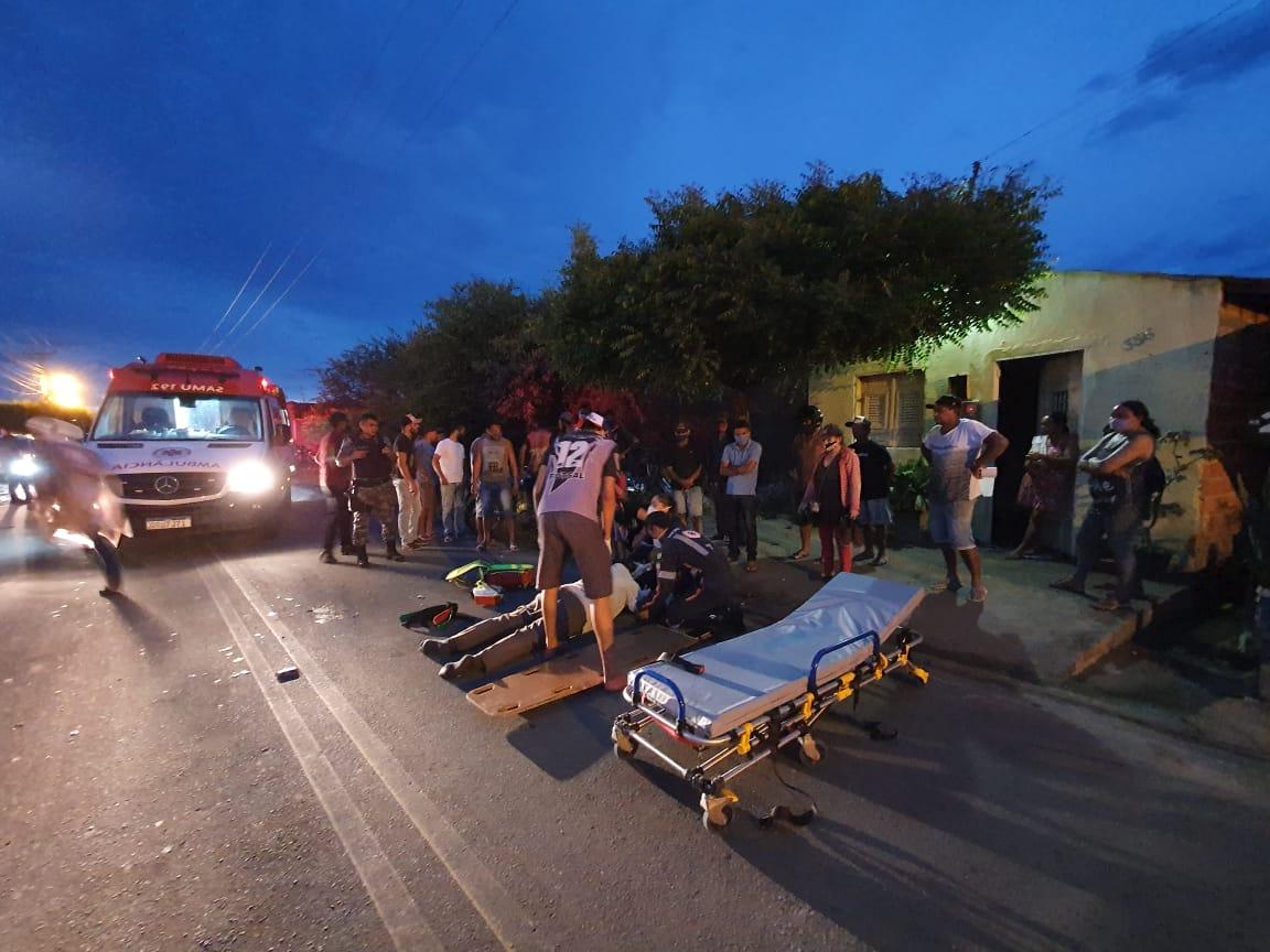Acidente entre motocicletas deixa duas pessoas feridas em Jaicós - Imagem 1