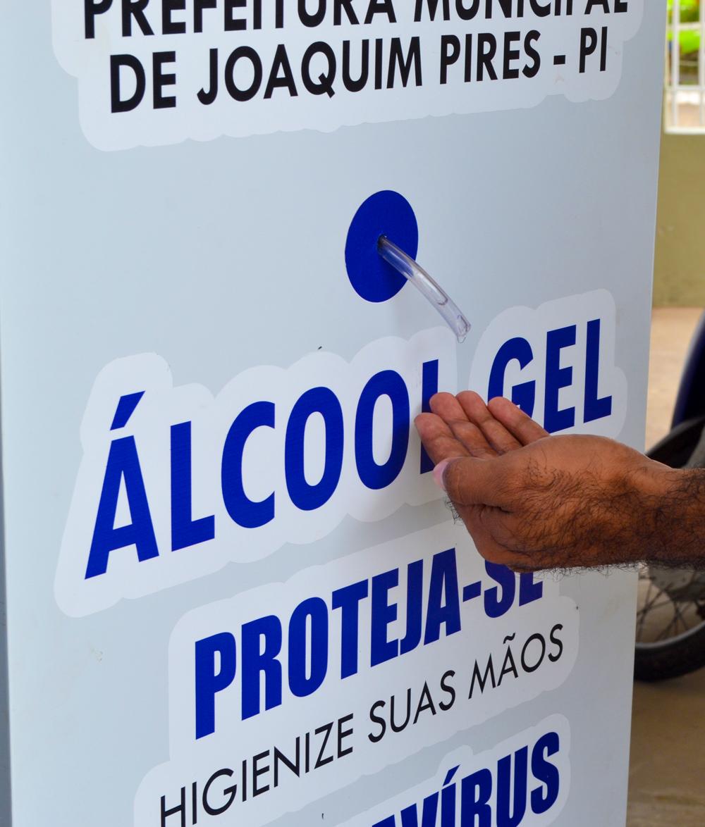 Prefeitura de Joaquim Pires adquire dispensadores com álcool em gel - Imagem 4