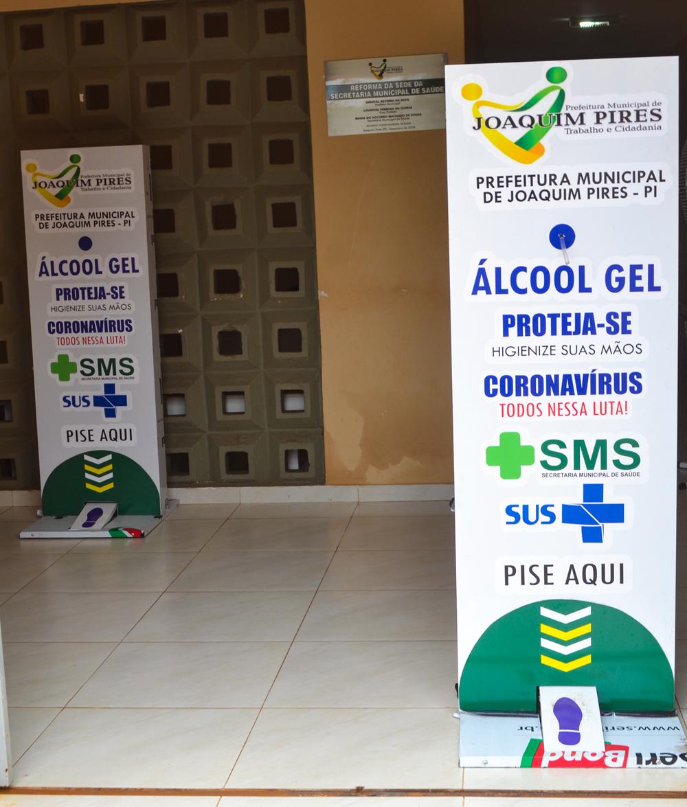 Prefeitura de Joaquim Pires adquire dispensadores com álcool em gel - Imagem 2