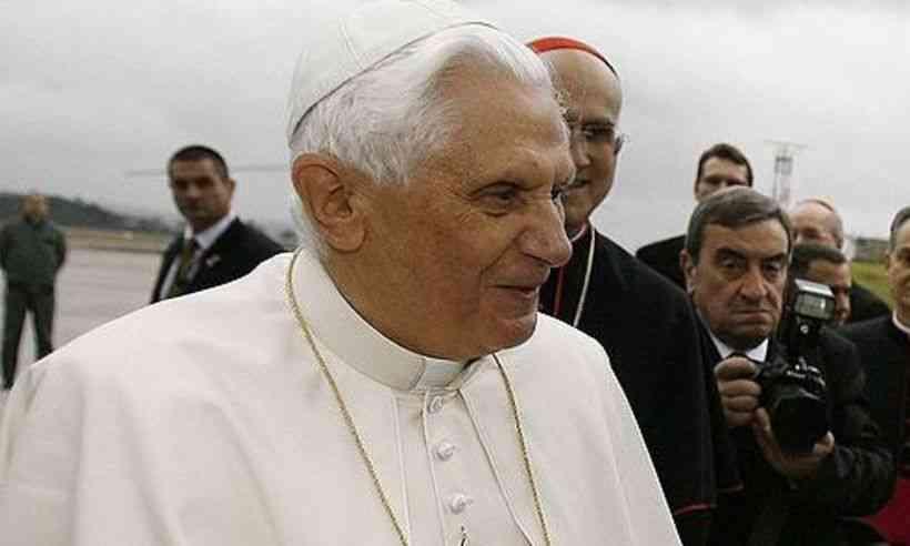 Imagem do papa emérito Bento XVI em maio de 2009
