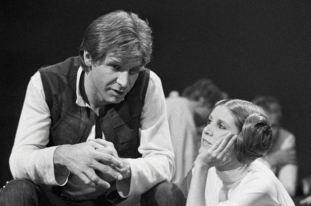 Princesa Leia e Han Solo