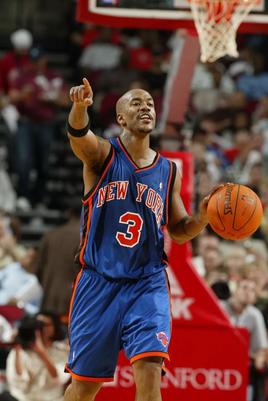 Stephon Marbury em ação pelos Knicks na NBA — Foto: Robert Seale/Getty Images