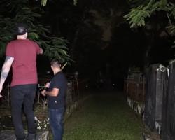 MN 40°: Youtuber filma aparição de fantasma em cemitério; assista!