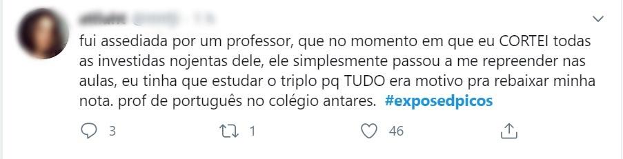 No twitter, estudantes expõem assédio sexual de professores em Picos - Imagem 8