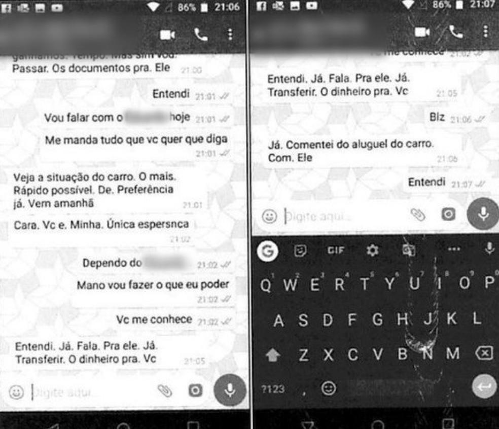 Paulo pede em conversa que o amigo o ajude — Foto: Reprodução