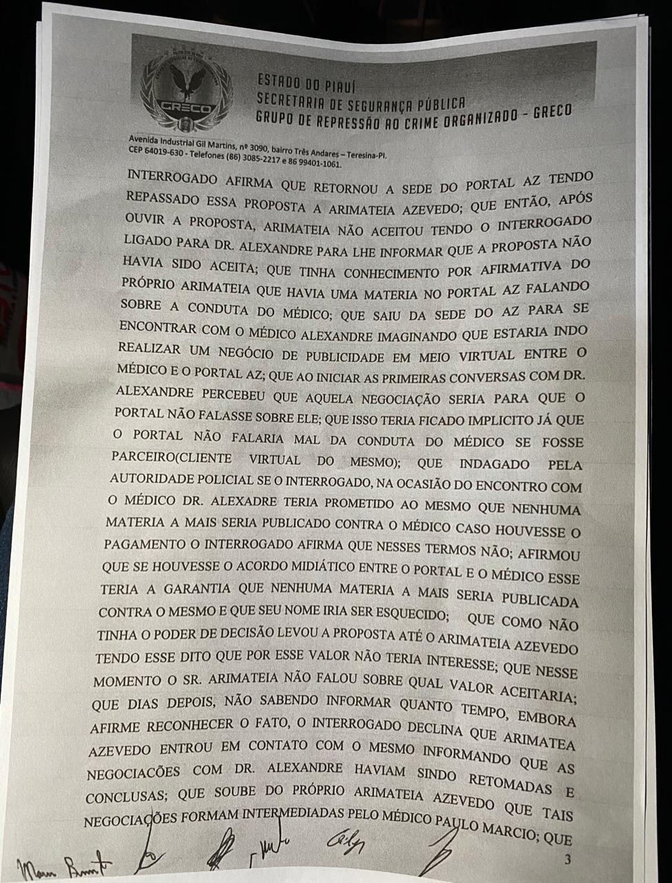 Arimateia Azevedo: Veja delação feita pelo professor Francisco Barreto - Imagem 5