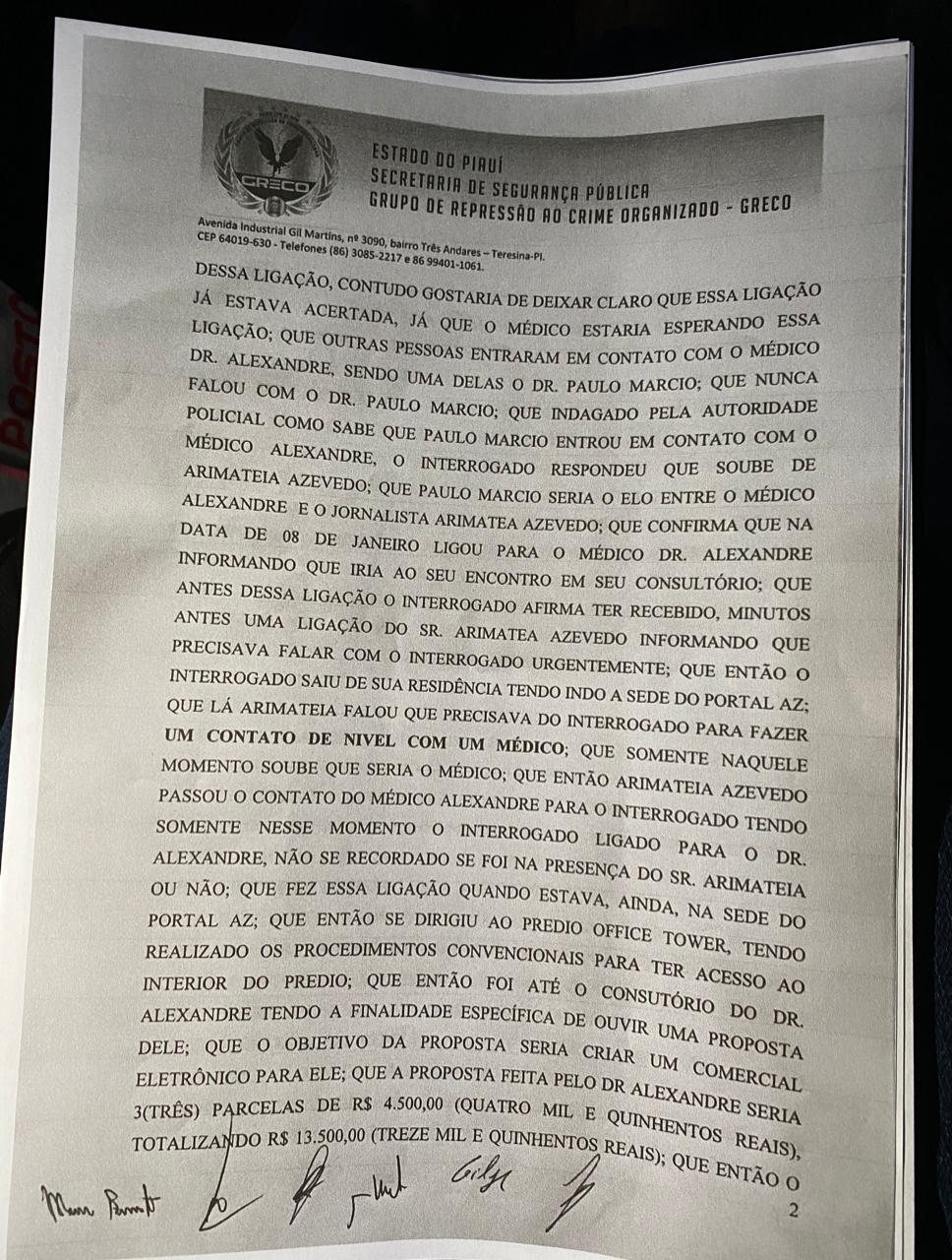 Arimateia Azevedo: Veja delação feita pelo professor Francisco Barreto - Imagem 4