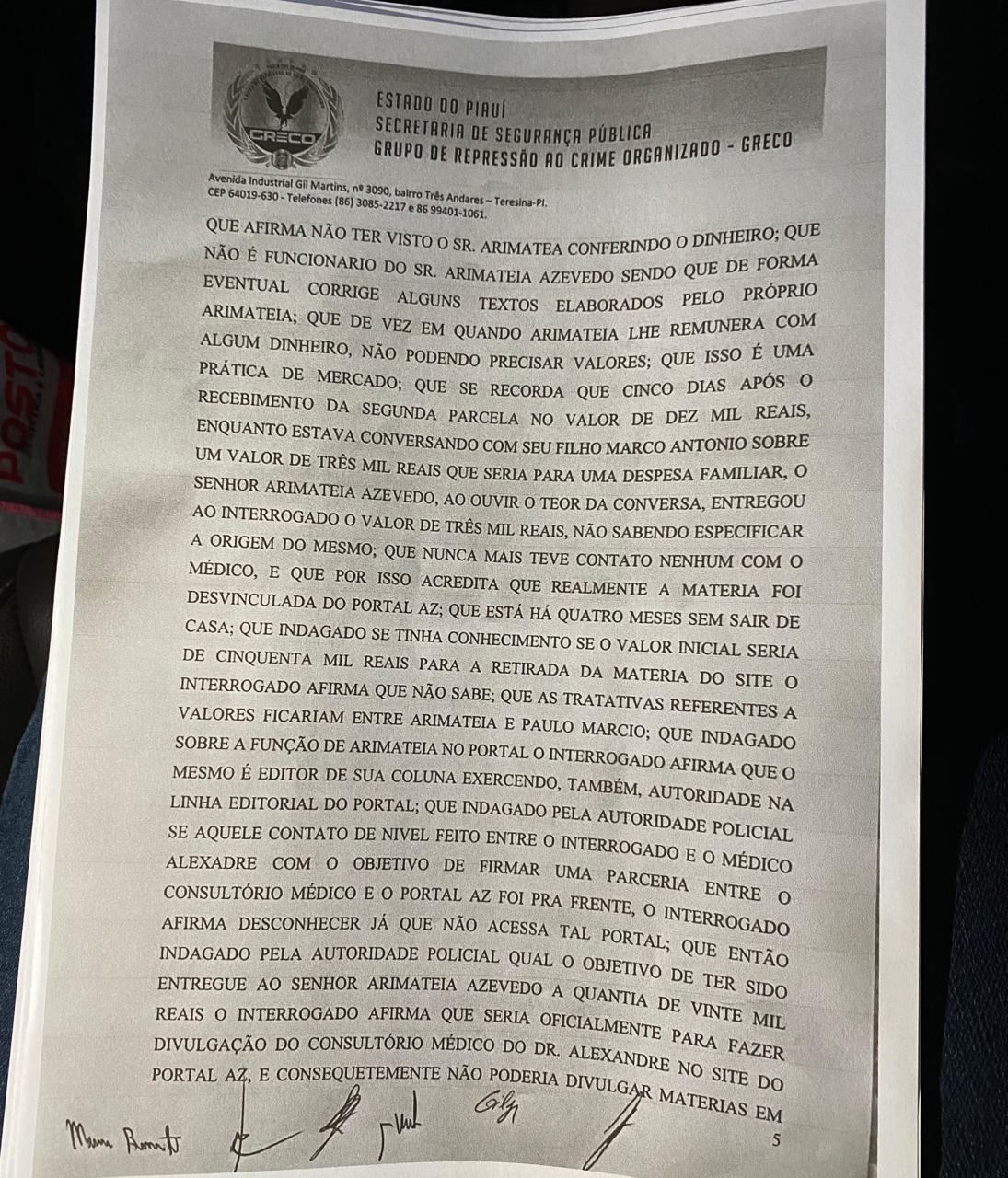 Arimateia Azevedo: Veja delação feita pelo professor Francisco Barreto - Imagem 7