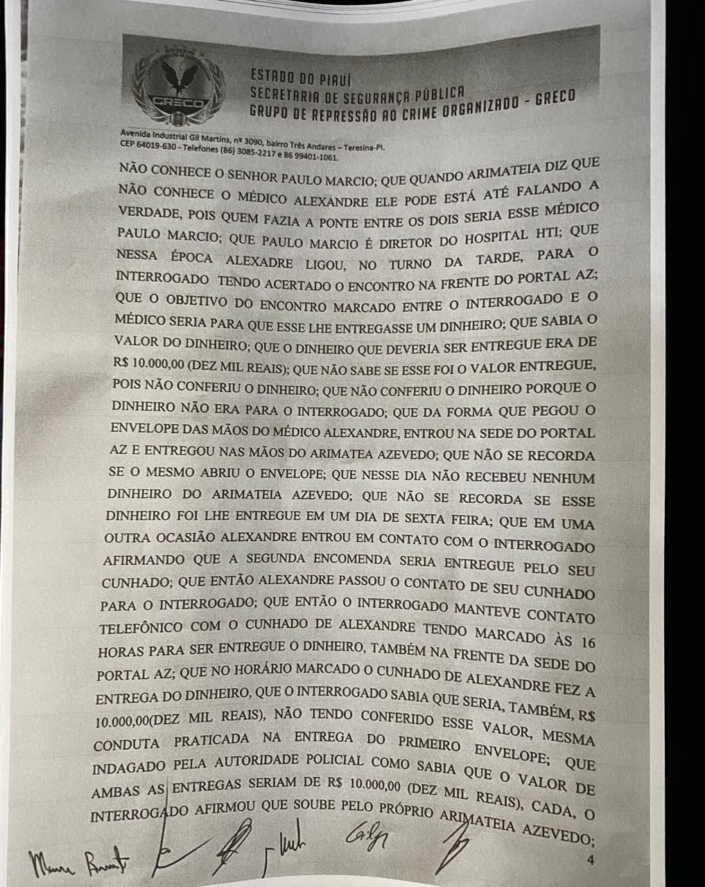 Arimateia Azevedo: Veja delação feita pelo professor Francisco Barreto - Imagem 6