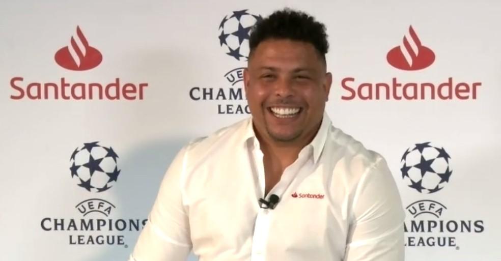 Ronaldo Fenômeno fez uma videoconferência sobre a Champions e falou do Carioca- Foto: Reprodução