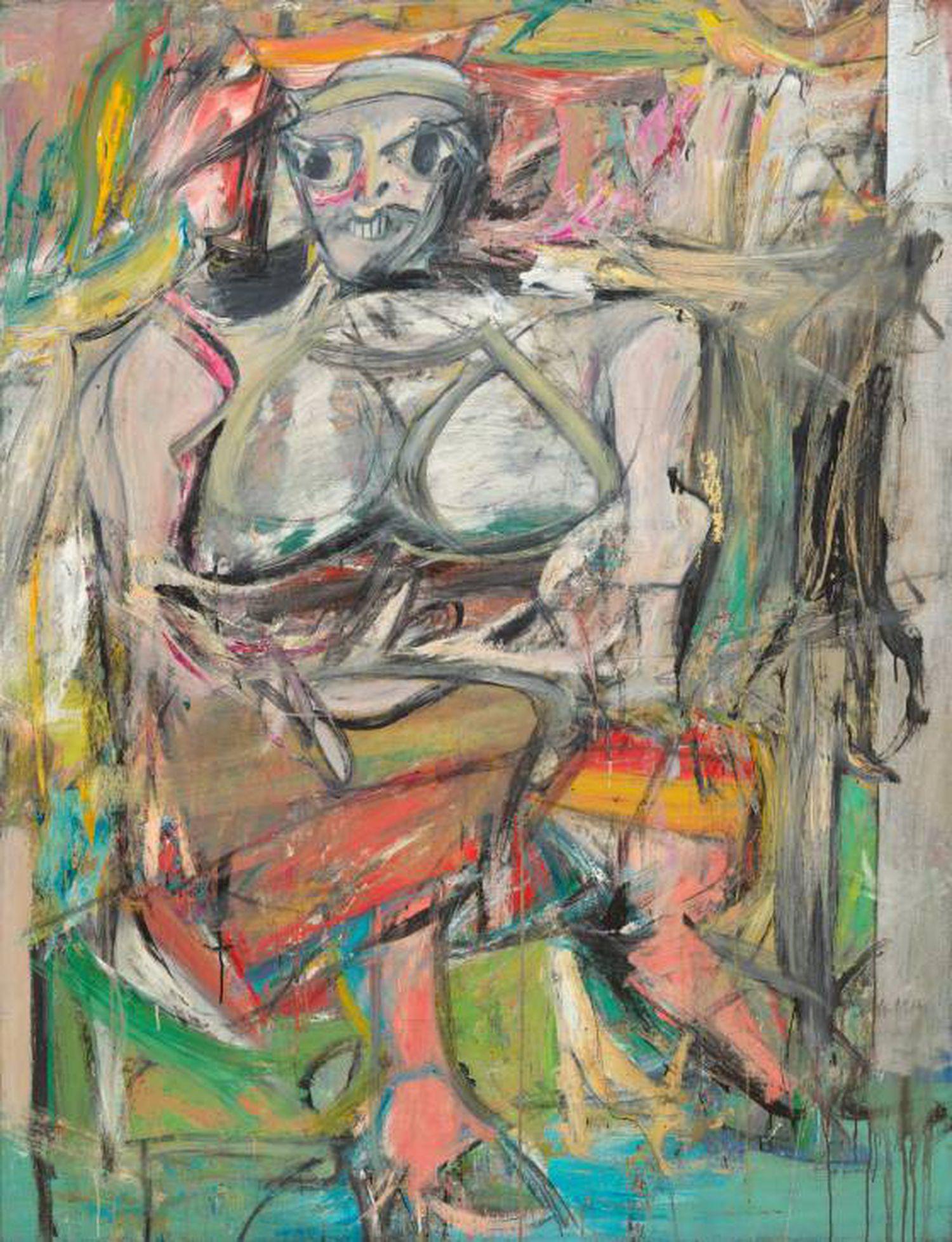 'Woman I', de Willem de Kooning, 1950–52, no Museu de Arte Moderna de Nova York
