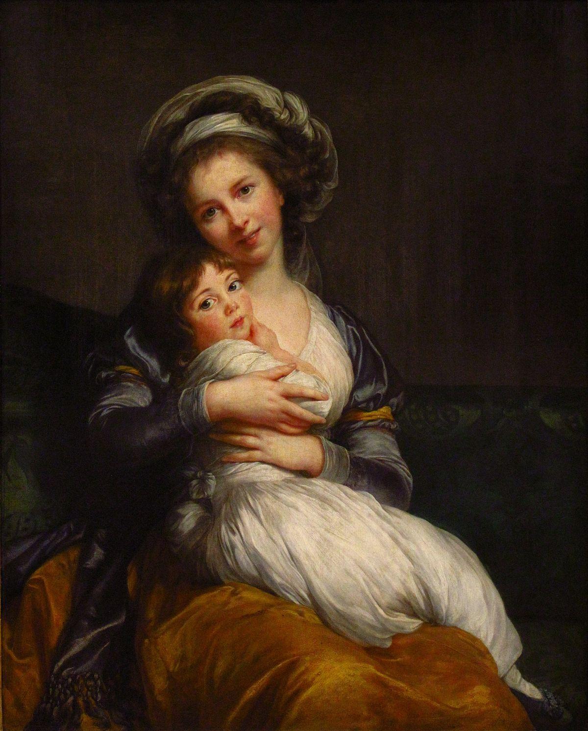 Autorretrato de Marie Louise Élisabeth Vigée-Le Brun com Sua Filha', 1786, no Museu do Louvre, em Paris.
