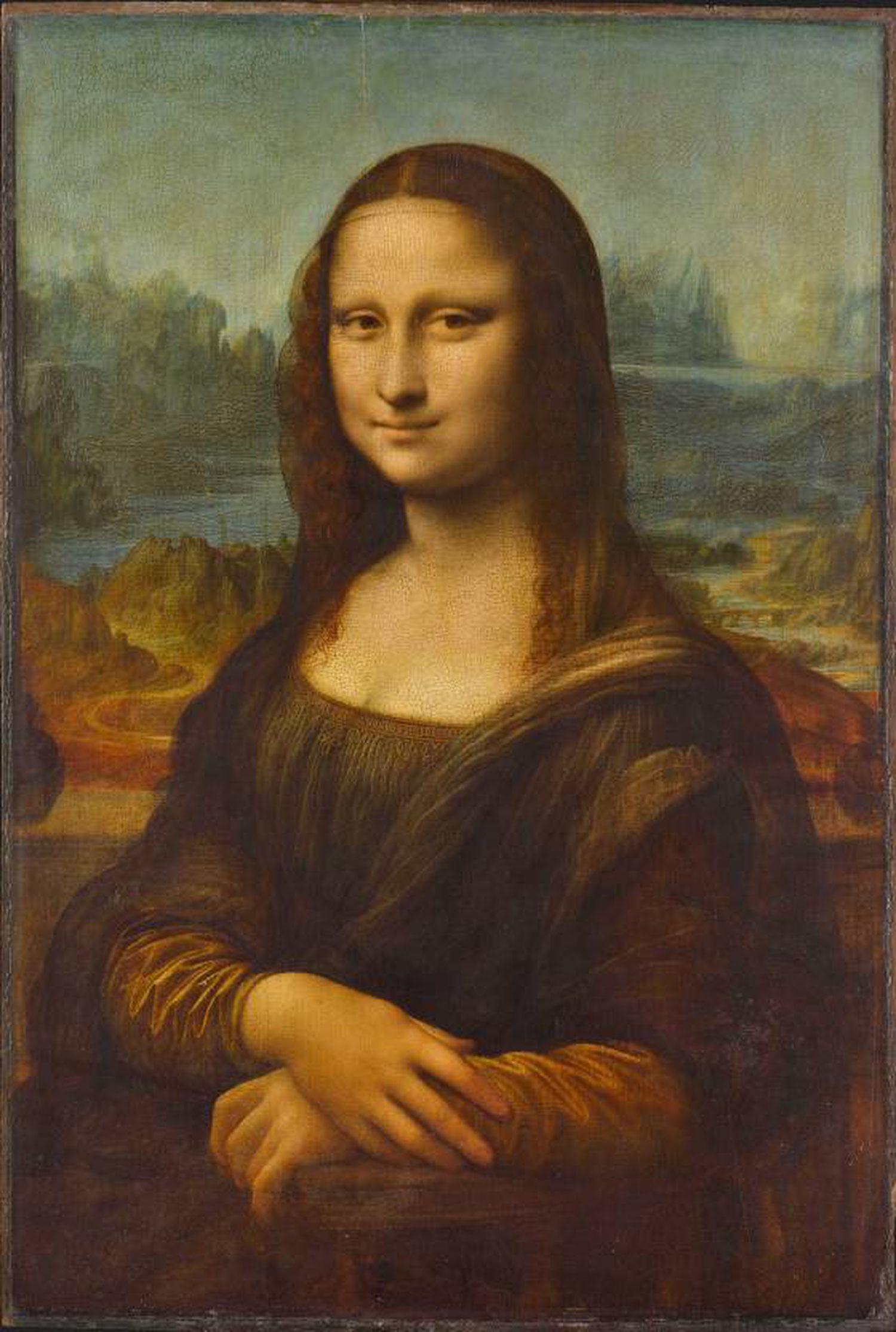 'Mona Lisa', de Leonardo da Vinci, 1503-1516, no Museu do Louvre